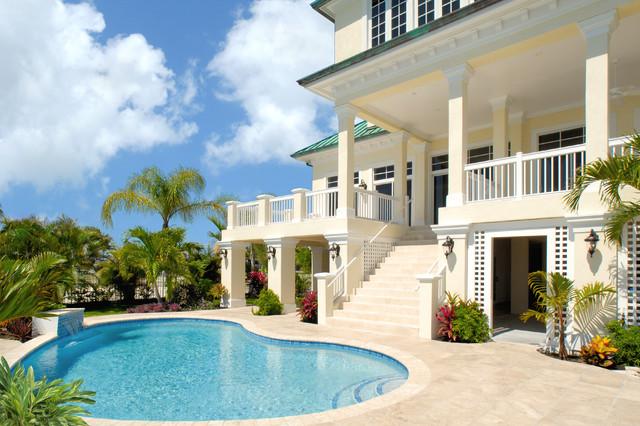 Key West Style Backyards : Key West Backyard  Tropical  Pool  miami  by John F Heltzel AIA
