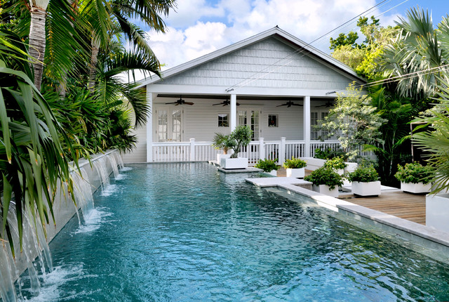 Key West Themed Backyard : Key West Contemporary tropicalpool