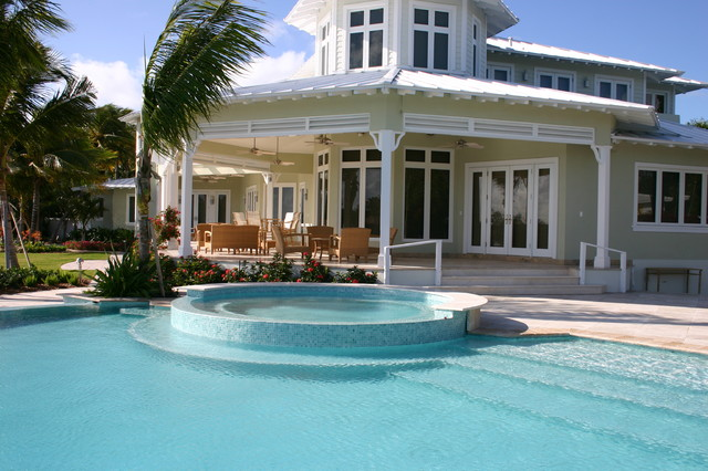 Key west glass tile pool traditional pool miami by foreverpools for Miami swimming pool contractors