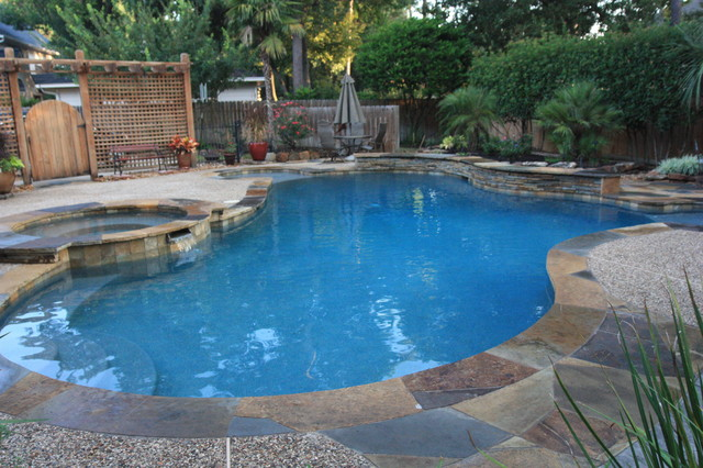 Swimming Pool Remodel Houston : Kirsch landscape design swimming pool remodel