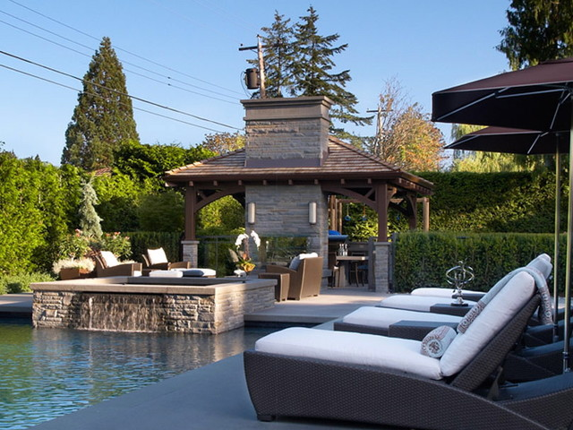 Knox Road Residence traditional-pool