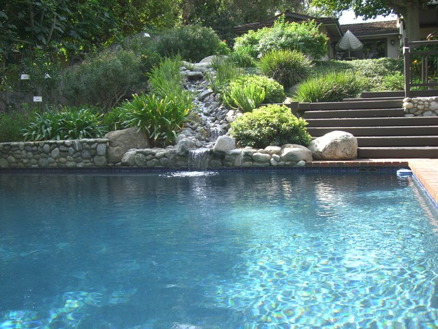 Koi ponds traditional pool los angeles by for Koi pond next to pool