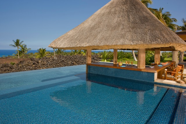 Kona Coast Tropical Pool Hawaii by Saint Dizier Design