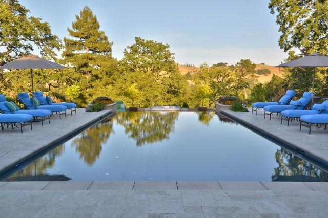 Lafayette Hillside Engineered Pool mediterranean-pool