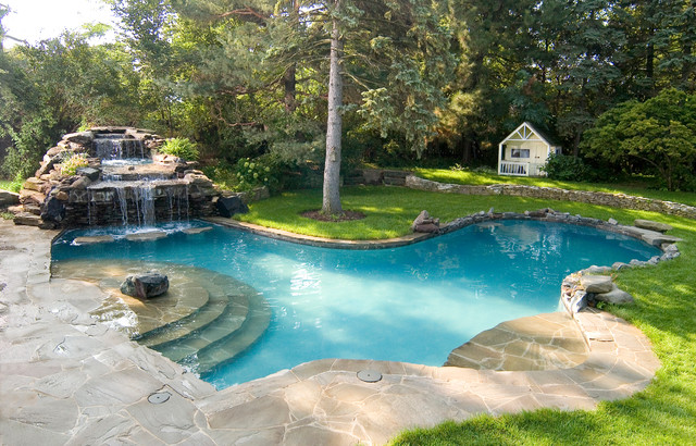 Lagoon Swimming Pool Designs : ... Lagoon Pool - Traditional - Pool - chicago - by Rosebrook Pools, Inc