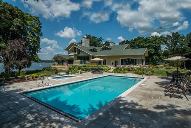 Lake Delavan, WI Swimming Pool and Hot Tub - Beach Style ...