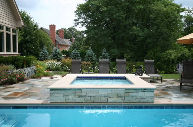 Lake Forest Classic Rectangular Pool With Spa