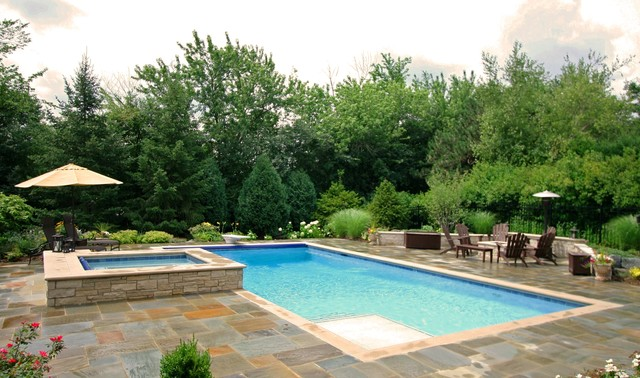 ... Rectangular Pool Designs With Spa