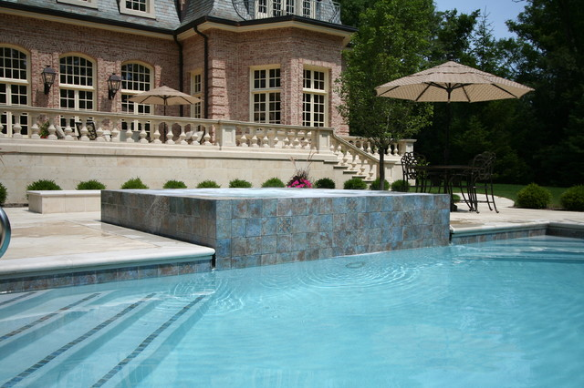 Lake Forest Estate traditional-pool