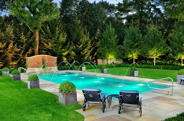 lake forest il traditional swimming pool with elegant water feature traditional pool