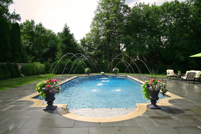 Lake forest roman pool traditional pool chicago by rosebrook