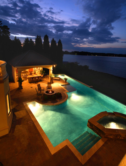 Lake House mediterranean pool