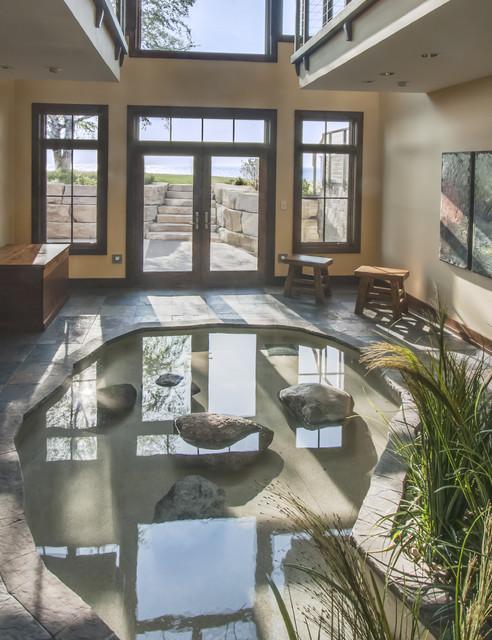 Lake Michigan Home rustic-pool
