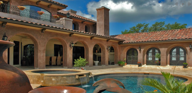 Lake Travis Custom mediterranean-pool