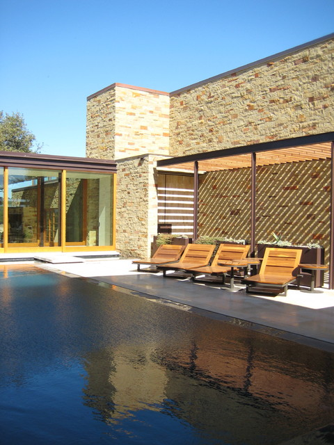 custom pool and spa contemporary pool