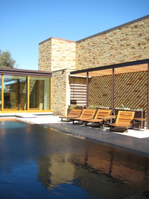 custom pool and spa contemporary-pool
