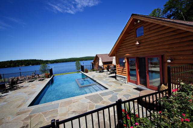 Exterior: Lakeside Log Home