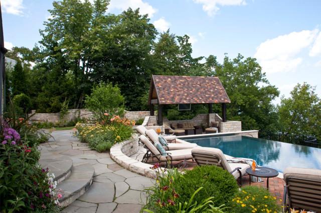 Lakeside Retreat traditional-pool