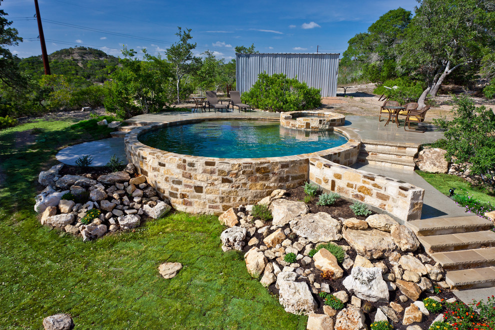 Example of a classic pool design in Austin