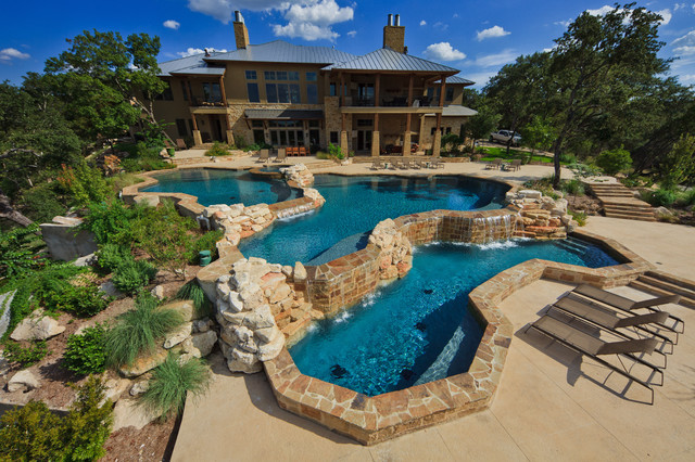 Land Design Tx contemporary pool