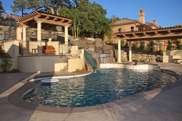Landmark Builders mediterranean pool