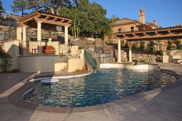 Landmark Builders Mediterranean Pool Sacramento By Landmark Builders