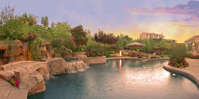 Landscape design contemporary-pool