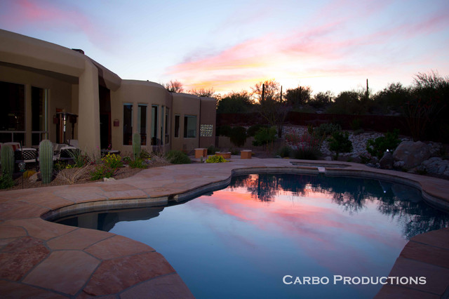 Landscape designs installations surrounding swimming for Pool design tucson