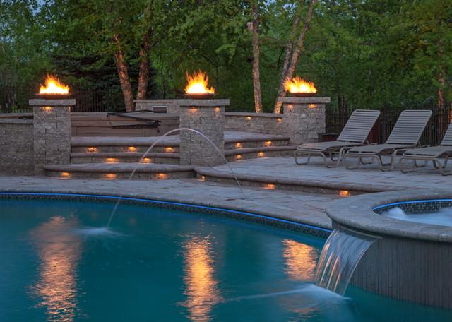 Landscape lighting poolside landscape lighting poolside traditional pool aloadofball Gallery