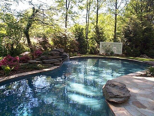 traditional pool by Slater Associates Landscape Architects