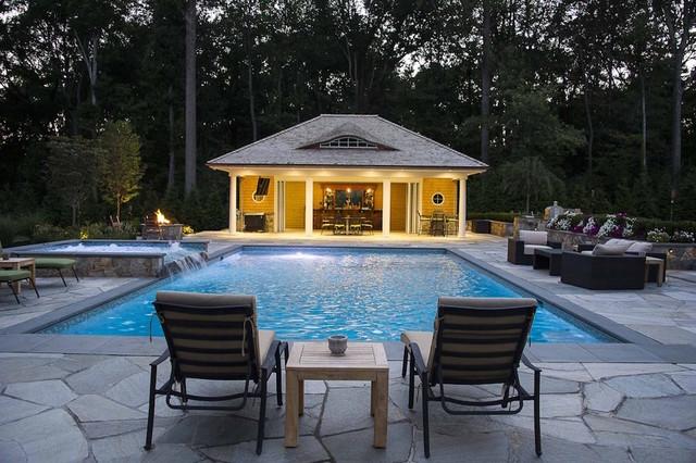 Modern Pool Houses landscape structures: pergolas, gazebos, pool houses & more