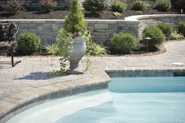 Landscaping Around Swimming Pool Modern Pool