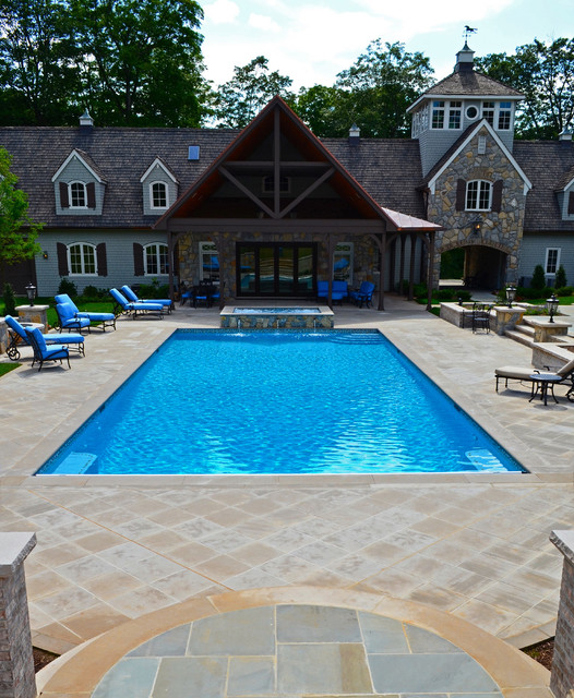 Lap pool design traditional pool new york by for Pool design houzz
