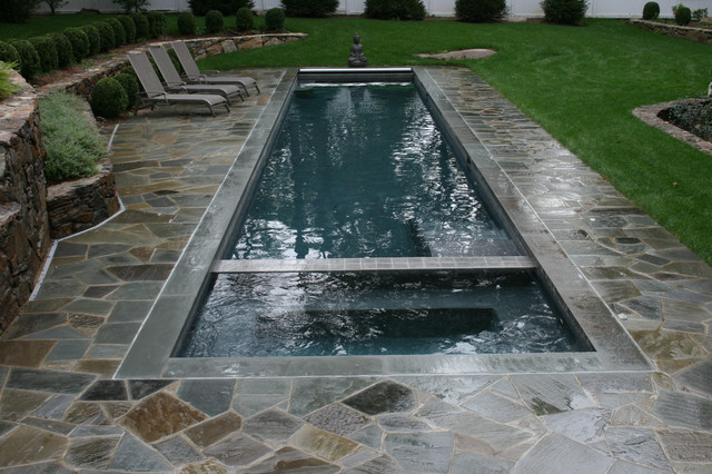 Lap Pool Eclectic Swimming Pool Hot Tub New York By Lang Pools Inc Houzz Uk