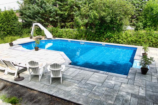 Large inground pool with slide for Large inground pools