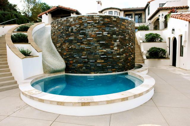 Las villas mediterranean pool san diego by demaria for Demaria landtech