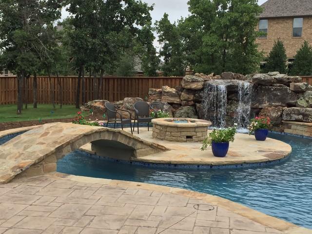 Lazy River Contemporary Pool Oklahoma City By Aquascape Pools