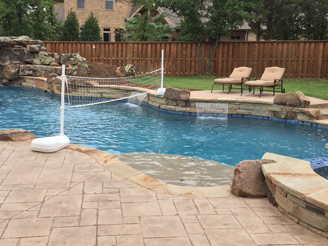 Lazy river contemporary pool oklahoma city by - Swimming pool contractors oklahoma city ...