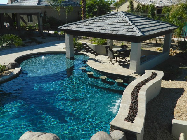 Image gallery lazy river swimming pools for Pool design with bar