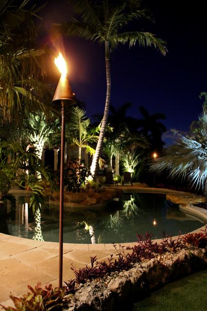 Tropical Outdoor Lighting - Outdoor Landscape Lighting Led Fuel Tiki Torch Tropical Outdoor ...