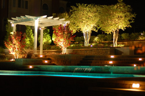 Outdoor Lighting Uplighting Design Example
