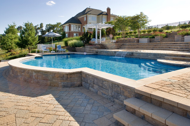 leesburg beacon hill eclectic pool dc metro by land water design