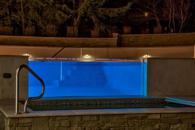 lighting contemporary pool omaha by echo systems