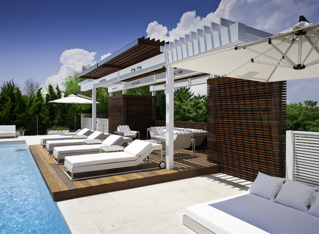 Long island pool surround contemporary pool new york for Pool surround ideas
