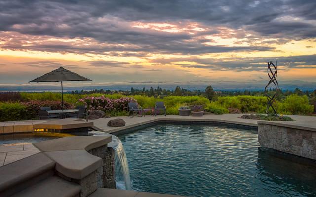 Los Altos Hills contemporary-pool