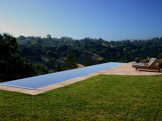 los altos hills infinity edge swimming pool and spa traditional pool - Infinity Swimming Pool Designs