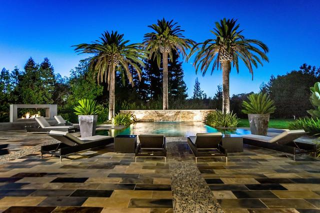 Los Altos Hills Modern contemporary-pool