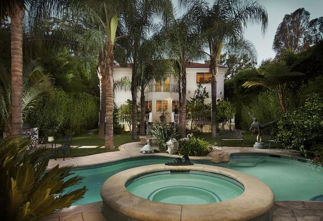 Los Angeles Area Homes Mediterranean Pool Los