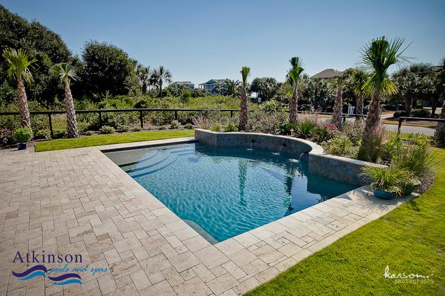 swimming pool contractor charleston sc lowcountry beach retreat tropical pool charleston