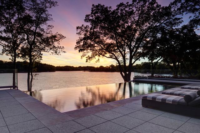 Lower Long Lake contemporary-pool